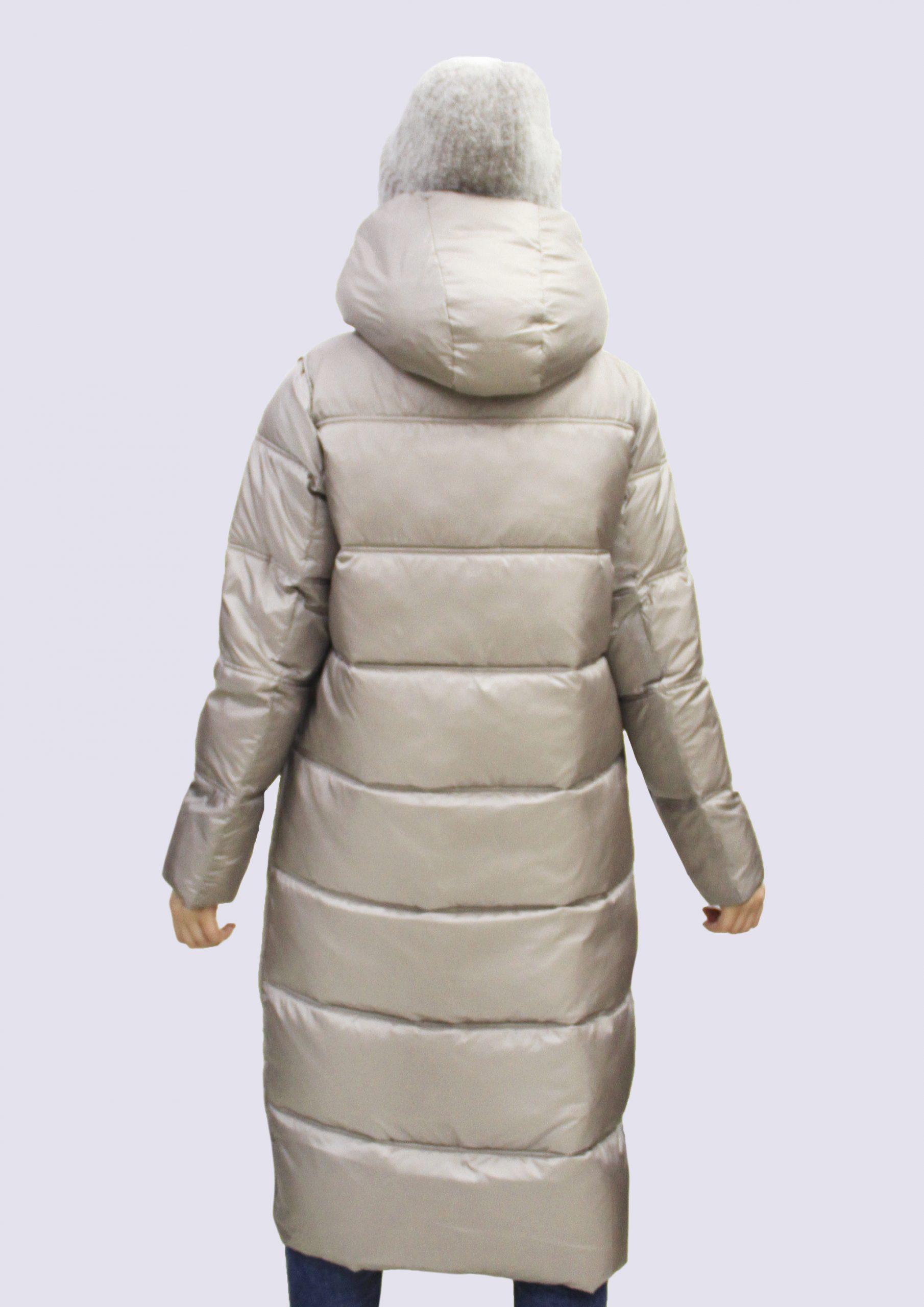 Женская зимняя длинная куртка двухсторонняя (Snow Owl(200))